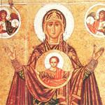 Икона Оранта Панагия тайный символ Мироздания