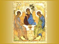 Икона Андрея Рублева Троица тайный символ Мироздания