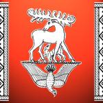 Священные символы Древних Славян — ромбические узоры, небесные олени и птицы в матрице Мироздания